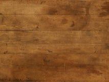 Plaque en bois brune de table de fond Photographie stock libre de droits