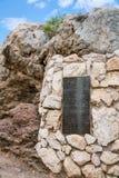 Plaque en bronze du discours de Paul à Athènes Image libre de droits