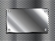 Plaque en métal Photographie stock libre de droits