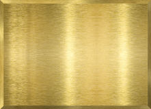 Plaque en métal d'or photos stock