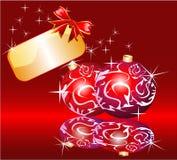 Plaque et bande de Noël Image stock