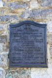 Plaque explaining history of Fort Carillon,Ticonderoga New York,2014 Royalty Free Stock Images