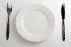 plaque, fourchette. couteau Photo libre de droits