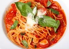 Plaque frais cuite de spaghe Photos stock