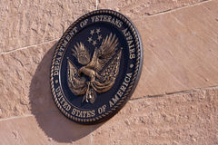 Plaque Insignia of Department of Veterans Affairs. Wall plaque with insignia of Department of Veterans Affairs (VA), United States of America Stock Photo