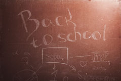 Plaque met de inschrijving terug naar school, Stock Foto