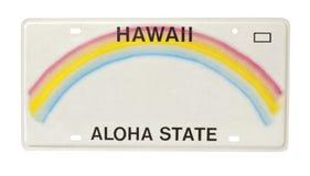 Plaque minéralogique d'Hawaï Photographie stock libre de droits