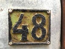 plaque minéralogique de numéro de maison 48 Photos stock