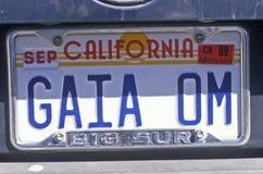 Plaque minéralogique de vanité - la Californie Image libre de droits