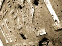 Plaque minéralogique rustique Photos libres de droits