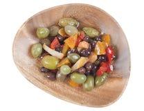 Plaque olive mélangée Image stock