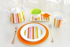 Plaque orange Images stock
