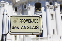 Plaque, Promenade des Anglais Royalty Free Stock Photos