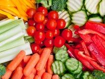 Plaque saine de légumes Image libre de droits