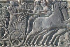 Plaque semblable antique grecque au grand monument d'Alexandre, Grèce Image stock