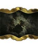 Plaque signalétique décorative noire Calibre pour la conception Photographie stock