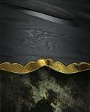 Plaque signalétique décorative noire sur le fond grunge Image stock