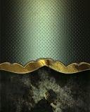 Plaque signalétique décorative noire sur le fond vert Photos stock
