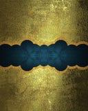 Plaque signalétique décorative sur la texture d'or Photos libres de droits