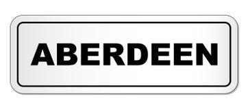 Plaque signalétique de ville d'Aberdeen Photographie stock