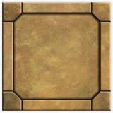 Plaque signalétique en bronze Images stock