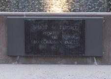 Plaque signalétique, l'esprit du bronze de vol, champ d'amour, Dallas, le Texas photographie stock libre de droits