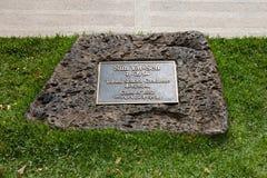 plaque statue参议员博士星期日yat 免版税库存照片