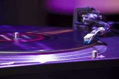 Plaque tournante du DJ Image stock