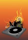 Plaque tournante du DJ Photo stock