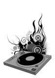 Plaque tournante du DJ Photo libre de droits
