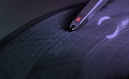 Plaque tournante record du DJ Photo libre de droits