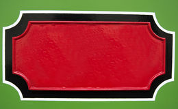 Plaque vide peinte à la main en métal Images stock