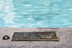 Plaque.Water dont drink Royalty Free Stock Photo