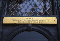Plaque on the Wig and Pen Club in London Stock Images