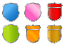 Plaques, badges & shields stock photo