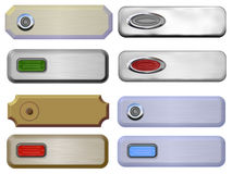 Plaques with Buttons or Door Bells. Plaques for door bells or rollover buttons Royalty Free Stock Photo