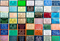 Plaques commemorating bullfights at the Mijas bullring Royalty Free Stock Photography