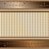 Plaques d'or au-dessus de la surface métallique Image libre de droits