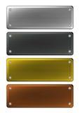 Plaques d'identification en métal Photographie stock libre de droits