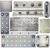 Plaques de métal Photo stock