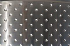 Plaques de métal avec les rivets fond ou la photo de texture photographie stock libre de droits