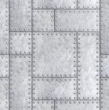 Plaques de métal blindées avec les rivets fond ou l'illustration de la texture 3d Photo stock
