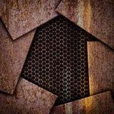 Plaques de métal et fer rouillés de corrosion de fond de grille illustration libre de droits