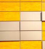 plaques de métal et texture en bois Images libres de droits