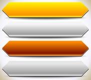 Plaques de métal, plaques plaque de métal précieux, bouton, CCB de bannière Image libre de droits
