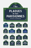 Plaques de rue de Paris Image stock