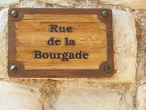 Plaques de rue de Frances de Vaucluse photos libres de droits