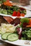 Plaques de salade, régime léger Photos stock
