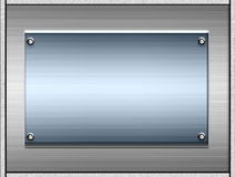 Plaques ou plaques en métal illustration stock