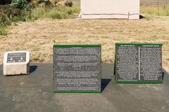 Plaques in Retiefklip, Kerkenberg Stock Fotografie